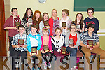 St Brendan's Oakpark Choir gold medal winners Pictured at the medal Presentations at NaGaeil club on Thursday night werefront l-r: Tadgh Lynch, Barry Sugrue, Sarah Cleary, Katie Ann Harris, Kim Harris and Daniel Teahan. Back l-r: Conor O'Donoghue, Deirdre Louglin, Muireann Keating Ursula Earley, Tracey Hurley, Fiona Kavanagh, Kate Sheehy and Fionán O'Carroll.