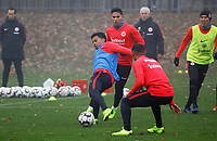 Allen Rodrigues de Souza (Eintracht Frankfurt) gegen Carlos Salcedo (Eintracht Frankfurt) - 14.11.2018: Eintracht Frankfurt Training, Commerzbank Arena, DISCLAIMER: DFL regulations prohibit any use of photographs as image sequences and/or quasi-video.