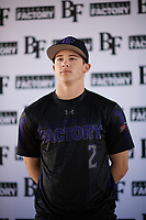 Jordan Thompson (2) of Samuel Champion High School in Boerne, Texas during the Baseball Factory All-America Pre-Season Tournament, powered by Under Armour, on January 12, 2018 at Sloan Park Complex in Mesa, Arizona.  (Zachary Lucy/Four Seam Images)