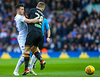 Leeds United's Jack Harrison vies for possession with Hull City's Jarrod Bowen<br /> <br /> Photographer Alex Dodd/CameraSport<br /> <br /> The EFL Sky Bet Championship - Leeds United v Hull City - Saturday 29th December 2018 - Elland Road - Leeds<br /> <br /> World Copyright © 2018 CameraSport. All rights reserved. 43 Linden Ave. Countesthorpe. Leicester. England. LE8 5PG - Tel: +44 (0) 116 277 4147 - admin@camerasport.com - www.camerasport.com