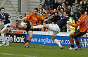 23/02/2008    Copyright Pic: James Stewart.File Name : sct_jspa04_dundeee_utd_v_falkirk.LEE WILKIE'S SHOT IS BLOCKED BY KENNY MILNE.James Stewart Photo Agency 19 Carronlea Drive, Falkirk. FK2 8DN      Vat Reg No. 607 6932 25.Studio      : +44 (0)1324 611191 .Mobile      : +44 (0)7721 416997.E-mail  :  jim@jspa.co.uk.If you require further information then contact Jim Stewart on any of the numbers above........
