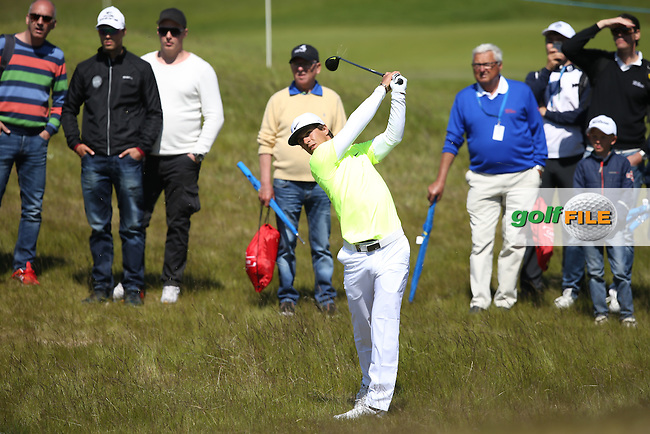 Thorbj?rn Olesen (DEN) finds the rough down the 8th during Round Two of the 2015 Nordea Masters at the PGA Sweden National, Bara, Malmo, Sweden. 05/06/2015. Picture David Lloyd | www.golffile.ie