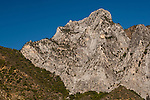 Granite mountain peak above Kings Canyon, Fresno County, California