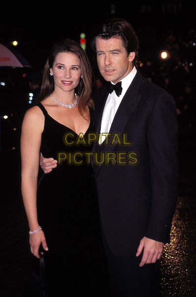 KEELEY SHAYE SMITH & PIERCE BROSNAN  .Ref: 6943 .half length, half-length, married, second wife.*RAW SCAN - photo will be adjusted for publication*.www.capitalpictures.com.sales@capitalpictures.com.© Capital Pictures