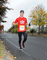 26/10/2015; 2015 SSE Airtricity Dublin Marathon, St Laurence's Road, Dublin. <br /> Joshua Myers<br /> Picture credit: Tommy Grealy/actionshots.ie.
