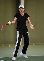 Hilversum, The Netherlands, 05.03.2014. NOVK ,National Indoor Veterans Championships of 2014, Franny van Opstal (NED)<br /> Photo:Tennisimages/Henk Koster