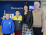 Imelda, Tom and William Kavanagh and Jason Collins at the Big Car Day at Smith's Ford Main Dealers North road promoting the upcoming 141 registration plates. Photo:Colin Bell/pressphotos.ie