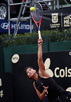 BOGOTÁ -COLOMBIA, 9-04-2018:María Herazo González de Colombia derrotó a la Checoslovaca Teresa Martincova ,durante el Claro Open Colsánitas que se juega en El Club Los Lagartos al norte de la Capital ./ María Herazo of Colombia won the Czechoslovak Teresa Martincova, during the Claro Open Colsánitas that is played at El Club Los Lagartos north of the Capital. Photo: VizzorImage/ Felipe Caicedo / Staff