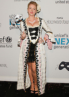 HOLLYWOOD, LOS ANGELES, CA, USA - OCTOBER 30: Laura Linda Bradley arrives at UNICEF's Next Generation's 2nd Annual UNICEF Masquerade Ball held at the Masonic Lodge at the Hollywood Forever Cemetery on October 30, 2014 in Hollywood, Los Angeles, California, United States. (Photo by Rudy Torres/Celebrity Monitor)