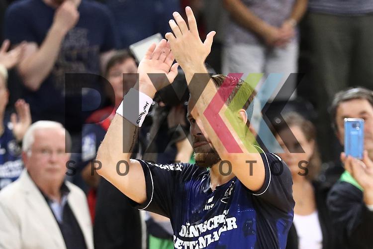 Flensburg, 21.09.16, Sport, Handball, DKB Handball Bundesliga, Saison 2016/2017, 5. Spieltag,  SG Flensburg-Handewitt - MT Melsungen : Jubel nach Sieg, Thomas Mogensen (SG Flensburg-Handewitt, #10)<br /> <br /> Foto &copy; PIX-Sportfotos *** Foto ist honorarpflichtig! *** Auf Anfrage in hoeherer Qualitaet/Aufloesung. Belegexemplar erbeten. Veroeffentlichung ausschliesslich fuer journalistisch-publizistische Zwecke. For editorial use only.
