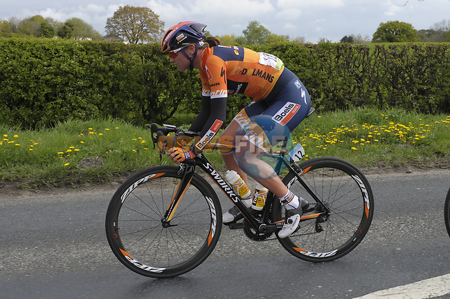 Chantal Blaak (NED) Boels Dolmans in action during the ASDA Women's Tour de Yorkshire 2017 running 122.5km from Tadcaster to Harrogate, England. 29th April 2017. <br /> Picture: ASO/P.Ballet | Cyclefile<br /> <br /> <br /> All photos usage must carry mandatory copyright credit (&copy; Cyclefile | ASO/P.Ballet)