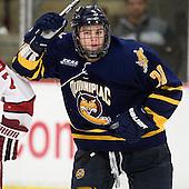 Matthew Peca (Quinnipiac - 20) - The Harvard University Crimson and Quinnipiac University Bobcats played to a 2-2 tie on Saturday, November 5, 2011, at Bright Hockey Center in Cambridge, Massachusetts.