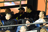 6th November 2019, Paris France; UEFA Champions league football, Paris St German versus Brugges;   NEYMAR JR PSG watches the game from the stands