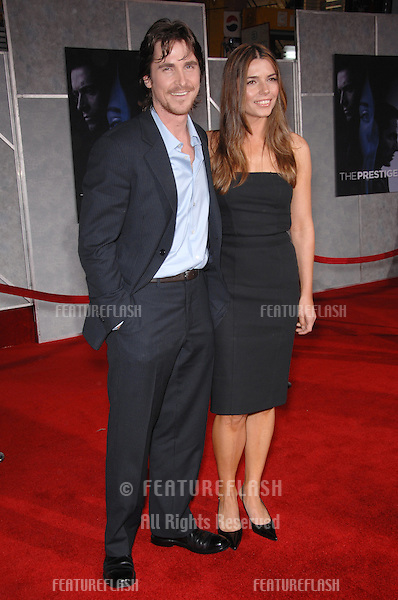 "CHRISTIAN BALE & wife SIBI BLAZIC at the world premiere, in Hollywood, of his new movie ""The Prestige""..October 17, 2006  Los Angeles, CA.Picture: Paul Smith / Featureflash"