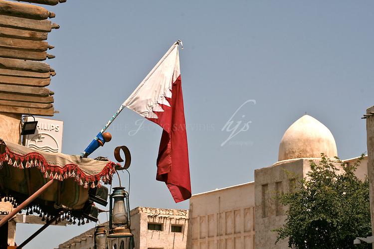 Qatar's National Flag, Souq Waqif, Doha, Qatar | Mar 10