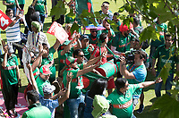Fans get warmed up in the fan zone whilst TV crews record before the fixture between Pakistan vs Bangladesh, ICC World Cup Cricket at Lord's Cricket Ground on 5th July 2019