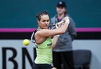 Bratislava, Slovenia, April 23, 2017,  FedCup: Slovakia-Netherlands,First rubber sunday,  Jana Cepelova (SVK)<br /> Photo: Tennisimages/Henk Koster