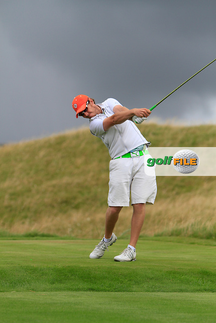 Ross Kenny (Naas) on the 14th tee during the South of Ireland Amateur Open Championship Third Round at Lahinch Golf Club  29th July 2013 <br /> Picture:  Thos Caffrey / www.golffile.ie