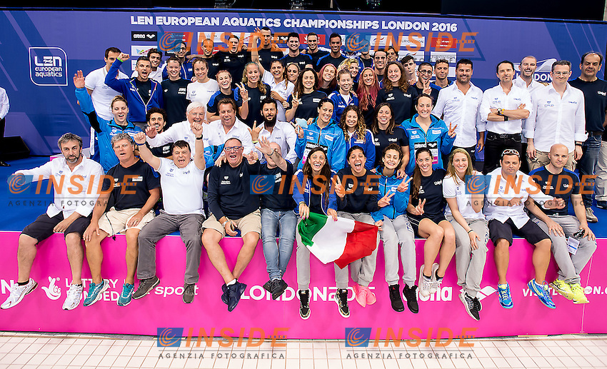 Team ITA Italy Len Trophy<br /> London, Queen Elizabeth II Olympic Park Pool <br /> LEN 2016 European Aquatics Elite Championships <br /> Day 7 swimming Medals<br /> Day 14 22-05-2016<br /> Photo Giorgio Scala/Deepbluemedia/Insidefoto