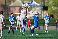 Boston, MA - Sunday May 07, 2017: Mccall Zerboni, Rosie White and Natasha Dowie during a regular season National Women's Soccer League (NWSL) match between the Boston Breakers and the North Carolina Courage at Jordan Field.