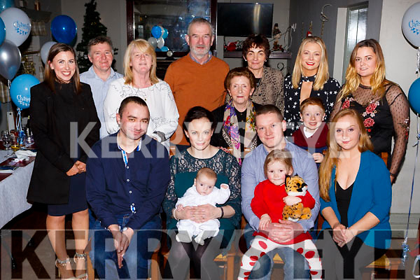 Little Donal McCarthy, Killeen, Killarney who celebrated his christening with his parents Joe and Lisa McCarthy, big sister Katie, god parents Aoife McCarthy and John Dohertyand family in the Ols Killarney Inn on Saturday