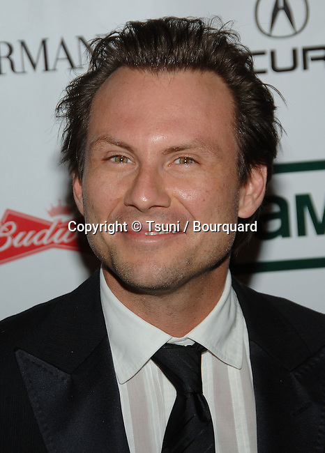 Christian Slatter arriving at the American Cinematheque Honoring George Clooney at the Beverly Hilton in Beverly Hills, Los Angeles. October 13, 2006.<br /> <br /> headshot<br /> eye contact<br /> smile