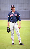 Boston Red Sox pitcher Frank Viola during spring training circa 1992 at Chain of Lakes Park in Winter Haven, Florida.  (MJA/Four Seam Images)
