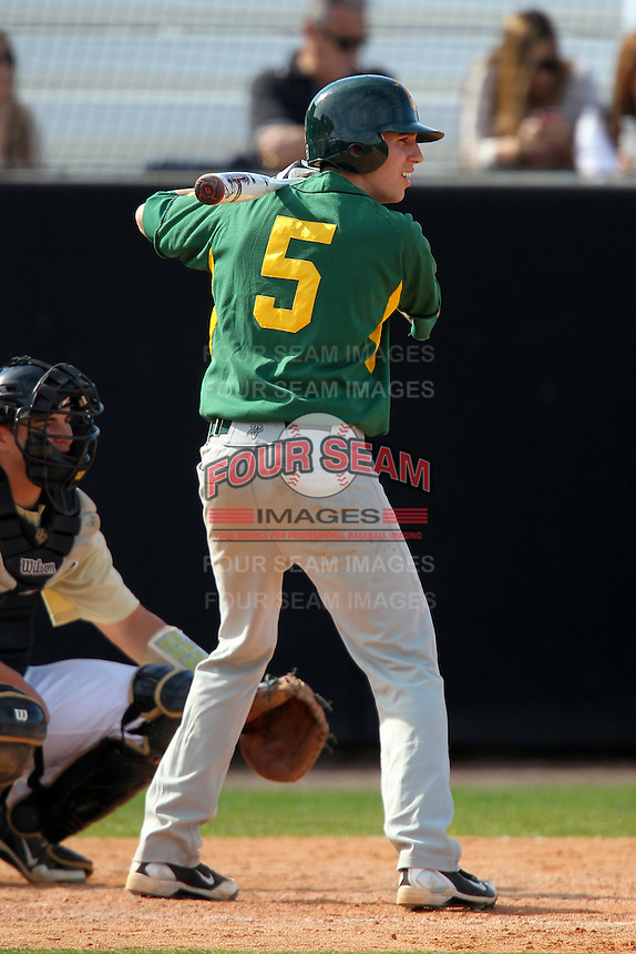 Siena Saints catcher Louis Iannotti #5 during a game against the UCF Knights at the UCF Baseball Complex on March 4, 2012 in Orlando, Florida.  Central Florida defeated Siena 15-2.  (Mike Janes/Four Seam Images)