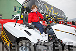 Looking for a new ride on lawn mower well Dáithí Casey found the one he wanted at the Cahersiveen Credit Union's Home, Garden & Lifestyle show in Waterville on Sunday.