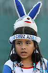 A Cruz Azul fan. The United Soccer League Division 1 Carolina Railhawks played Club Deportivo Cruz Azul of La Primera Division del Futbol Mexicano on Wednesday, July 25, 2007 in an international club friendly game at SAS Stadium in Cary, North Carolina/