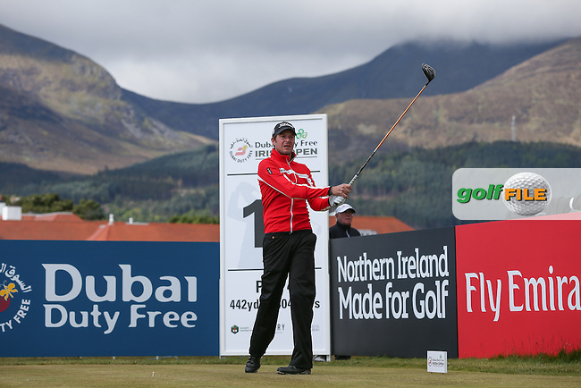 Simon Thornton (IRL) plays from the 11th during Round Two of the 2015 Dubai Duty Free Irish Open Hosted by The Rory Foundation at Royal County Down Golf Club, Newcastle County Down, Northern Ireland. 29/05/2015. Picture David Lloyd | www.golffile.ie