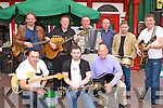 Killarney musicians busking for charity at Markets Cross Killarney on Monday was Frank Culloty, Rory Sugrue, Jimmy Fleming. Back row:  Donal Flynn, Dermot Moynihan, Jer Brosnan, Dermot Flynn, Teddy Sugrue, and Donal Shine