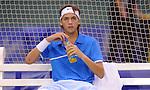 TENIS, BEOGRAD, 17. Feb. 2010. -  Srpski teniser Filip Krajinovic tokom meca protiv Lukasa Rosola iz Ceske u okviru 1. kola Gemax MTS Open 2009. Foto: Nenad Negovanovic