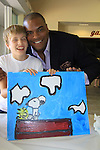 One Life To Live Sean Ringgold paints with Mac as Sean donates time at SoapFest's Celebrity Weekend - Art for Autism when the actors & kids make paintings for auction to benefit Autism on November 10, 2012 Marco Island, Florida. For info www.autism-society.org or www.autismspeaks.org. (Photo by Sue Coflin/Max Photos)