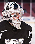 Kris Carlson (PC - 30) - The Providence College Friars practiced on the rink at Fenway Park on Friday, January 6, 2017.