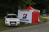 The Bridgestone Drive guard on display during the first round of the Northern Ireland Open, Galgorm Golf Club, Ballymeana, Co Antrim, Ireland. 10/08/2017<br /> Picture: Fran Caffrey / Golffile