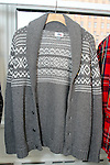 "Menswear sweaters from the ""Snowed In"" collection, displayed during the Old Navy Holiday 2015 fashion presentation."