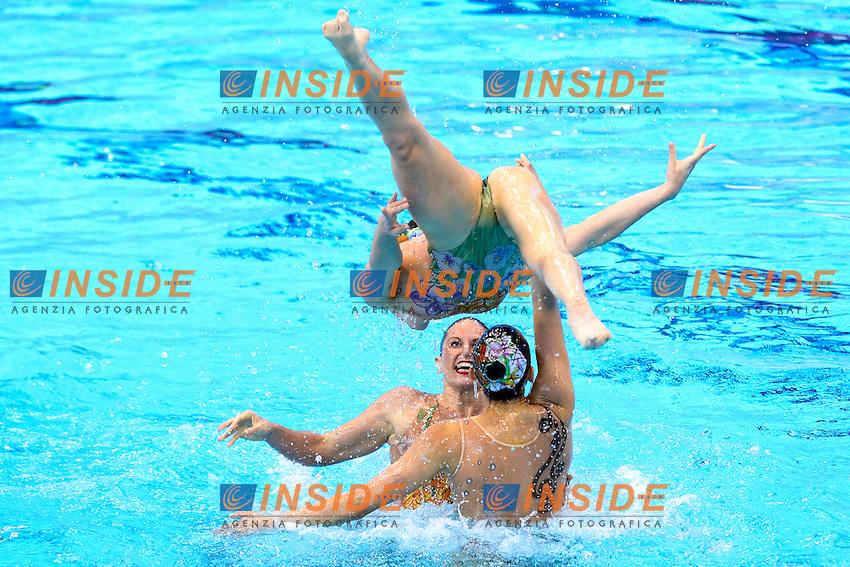 ITALY ITA Silver Medal <br /> BOZZO Elisa / CALLEGARI Beatrice<br /> CATTANEO Camilla / CERRUTI Linda<br /> DEIDDA Francesca / FLAMINI Manila<br /> PERRUPATO Mariangela / SGARZI Sara<br /> Team Free Final <br /> London, Queen Elizabeth II Olympic Park Pool <br /> LEN 2016 European Aquatics Elite Championships <br /> Synchronized Swimming <br /> Day 05 13-05-2016<br /> Photo Andrea Staccioli/Deepbluemedia/Insidefoto