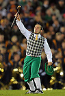 Oct. 22, 2011; The Leprechaun cheers during the USC game, 2011...Photo by Matt Cashore/University of Notre Dame