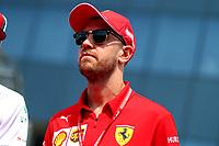#05 Sebastian Vettel, Scuderia Ferrari. Hungarian GP, Budapest  2-4 August 2019<br /> Budapest 04/08/2019 GP Hungary <br /> Formula 1 Championship 2019 Race  <br /> Photo Federico Basile / Insidefoto