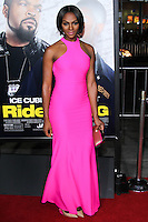 "HOLLYWOOD, CA - JANUARY 13: Tika Sumpter at the Los Angeles Premiere Of Universal Pictures' ""Ride Along"" held at the TCL Chinese Theatre on January 13, 2014 in Hollywood, California. (Photo by David Acosta/Celebrity Monitor)"