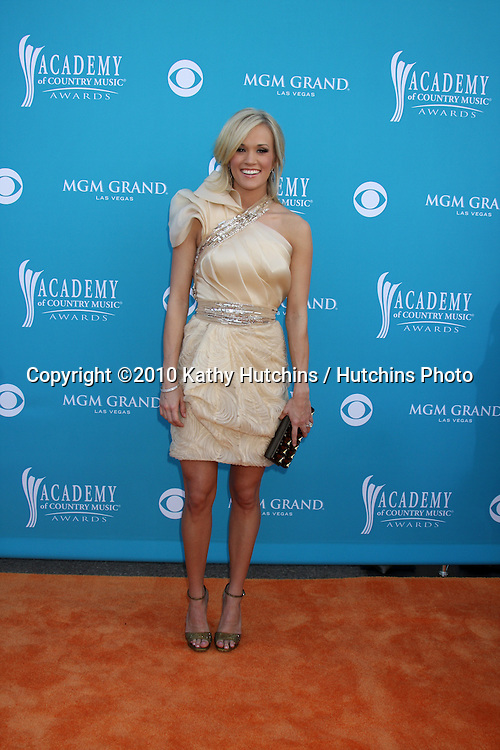 Carrie Underwood.arrives at the Academy of Country Music Awards 2010.MGM Garden Arena.Las Vegas, NV.April 18, 2010.©2010 Kathy Hutchins / Hutchins Photo....