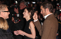 Chris Pine and Keira Knightley arriving for the UK Premiere of Jack Ryan, at Vue Leicester Square, London. 20/01/2014 Picture by: Alexandra Glen / Featureflash