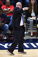 Washington, DC - Sept 17, 2019: Washington Mystics head coach Mike Thibault instructs his team from the sidelines during WNBA Playoff semi final game between Las Vegas Aces and Washington Mystics at the Entertainment & Sports Arena in Washington, DC. The Mystics hold on to beat the Aces 97-95. (Photo by Phil Peters/Media Images International)