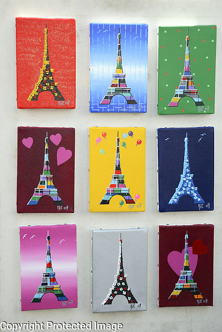 Eiffel Tower Pictures for Sale in Montmartre, Paris, France