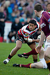 August Pulu passes from a ruck.  ITM Cup & Ranfurly Shield rugby match between the Counties Manukau Steelers and the Southland Stags played at Rugby Park, Invercargill, on Saturday 14th of August, 2010..Southland won the game 13 - 9 after leading 11 - 6 at halftime.