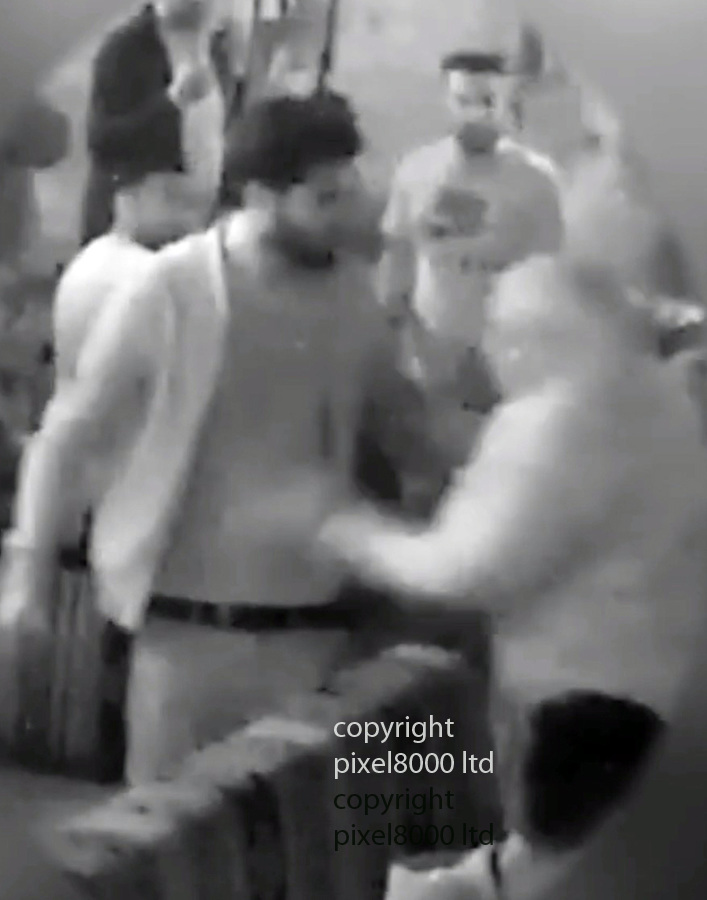 pic shows: CCTV of fight in sheesha bar between Janbaz Tarin ex wife Raneem Oudeh and her mother Khaola Saleem<br /> <br /> Janbaz Tarin murder of Raneem Oudeh and her mother Khaola Saleem<br /> <br /> <br /> <br /> Picture by Pixel8000 07917221968