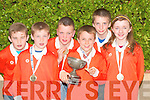 Brosna under fourteen quiz team who gold medals in the all Ireland quiz at Mosney on Saturday were joined by supporters at the Parish hall for celebrations on Monday evening. Gaeroid Curtin, Eamon Prendiville, Gerard Nash, darragh Curtin, Patrick Leahy and Ruth Walsh. .