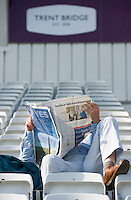 Picture by Allan McKenzie/SWpix.com - 11/09/2014 - Cricket - LV County Championship Div One - Nottinghamshire County Cricket Club v Yorkshire County Cricket Club - Trent Bridge, West Bridgford, England County Cricket Club - Trent Bridge fans, supporters, newspaper, branding.