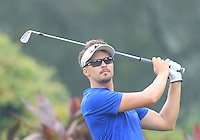 Rikard Karlberg (SWE) on the 4th tee during Round 3 of the CIMB Classic in the Kuala Lumpur Golf & Country Club on Saturday 1st November 2014.<br /> Picture:  Thos Caffrey / www.golffile.ie